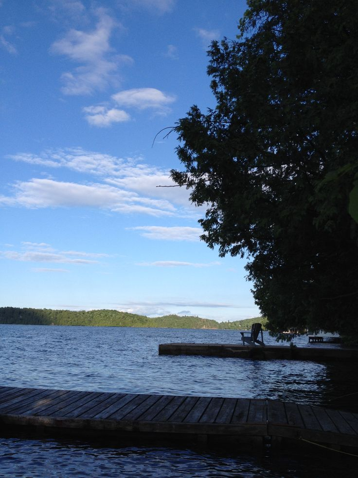 Saturday evening at the dock - soooo peaceful www.meechlakeretreat.com