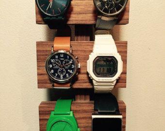 Walnut watch display