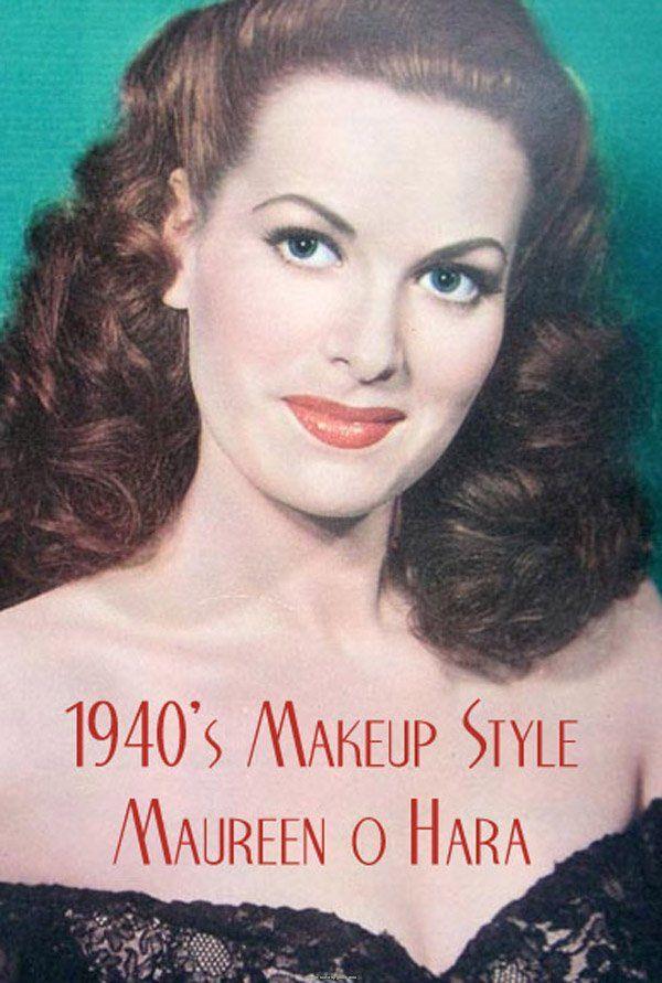 1940s make-up style. Maureen O'Hara