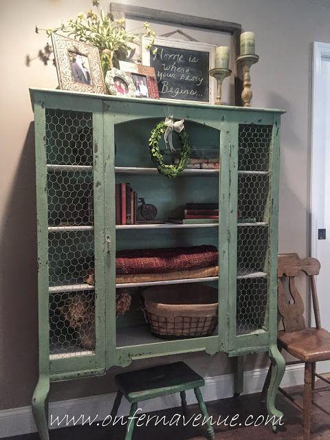 Old Hutch turned Shabby Chic Storage