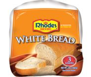 Let Rhodes™ White Bread fill your home with the aroma of fresh baked bread. This White Bread gives you the true aroma, flavor and texture of homemade yeast breads. And as an added benefit Rhodes™ flash freezes all of their dough, so no preservatives are used. Rhodes™ White Bread is available in packages of 3 and 5 loaves per bag.