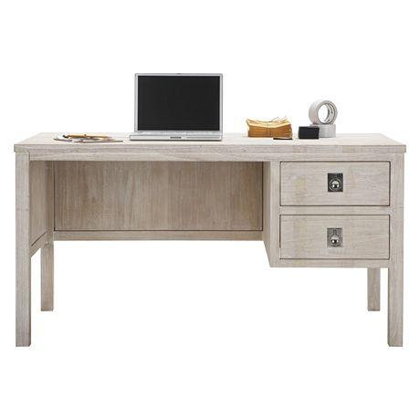 Cancun Desk 140x70cm White Wash