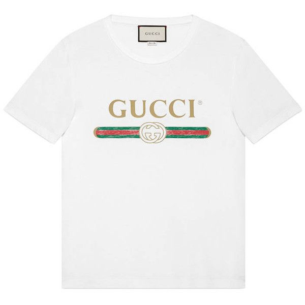 Gucci Washed T-Shirt With Gucci Print (425 AUD) ❤ liked on Polyvore featuring men's fashion, men's clothing, men's shirts, men's t-shirts, men, ready to wear, tshirts & polos, mens vintage polo shirts, mens patterned shirts and mens polo shirts