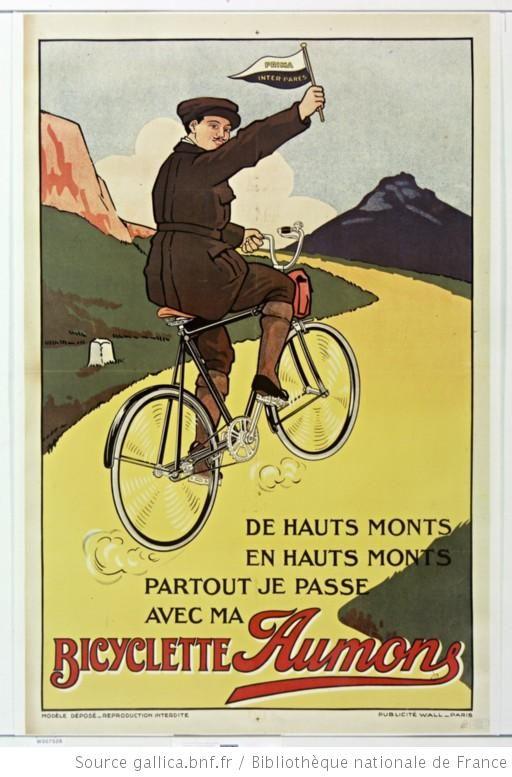 De hauts monts en hauts monts partout je passe avec ma bicyclette Aumons : [affiche] / [non identifié] - 1