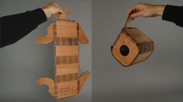 Bendable Bird Box #woodworking #laser_cutter #outdoors