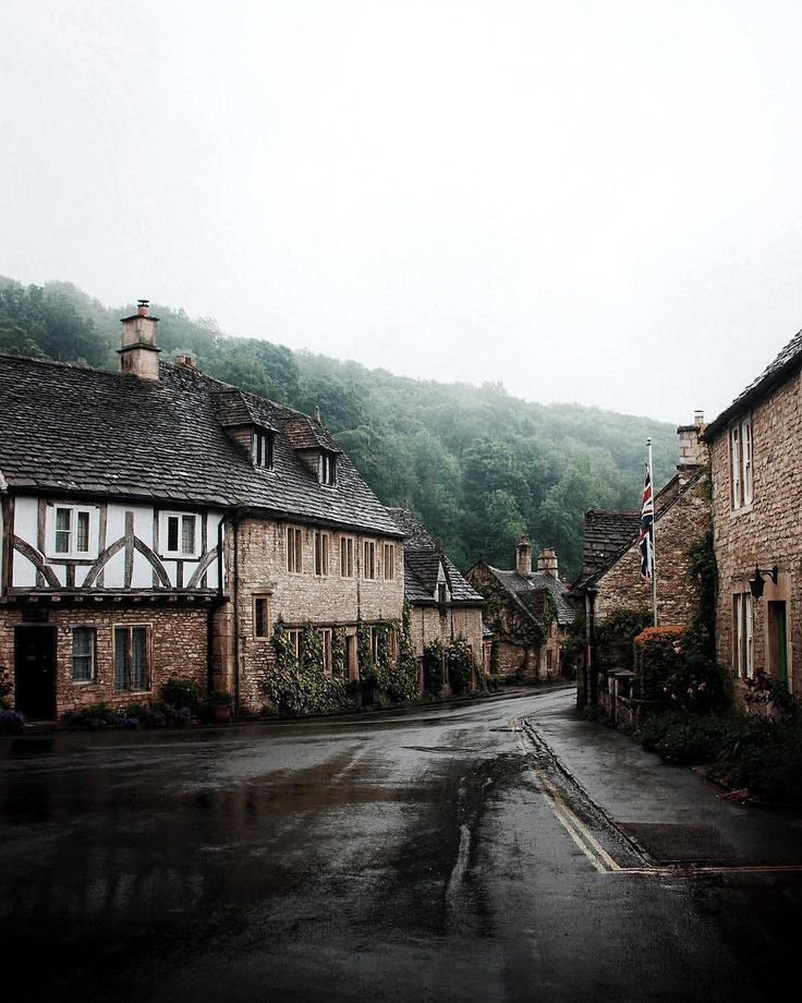 "Castle Combe: ""Summer sun is beautiful, but Britain's drizzle can often produce truly magical scenes – like this…"""