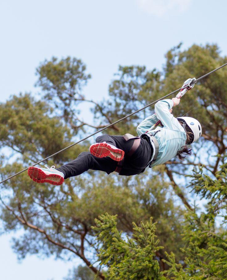 Huipun pisin liuku on yli satametrinen.  Our longest zipline measures more than 100 meters, more than the length of a football field!  #seikkailupuisto #treetopadventure