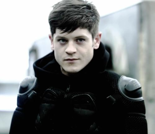 iwan rheon (as future simon!) from misfits. if he doesn't play ian curtis in a biopic, life's not just.