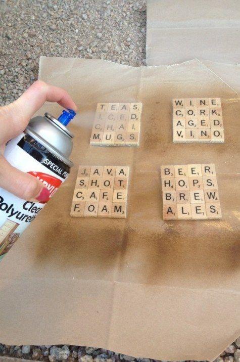 Scrabble tile coasters - Teacher Gift Idea - teacher appreciation gifts #teacher...