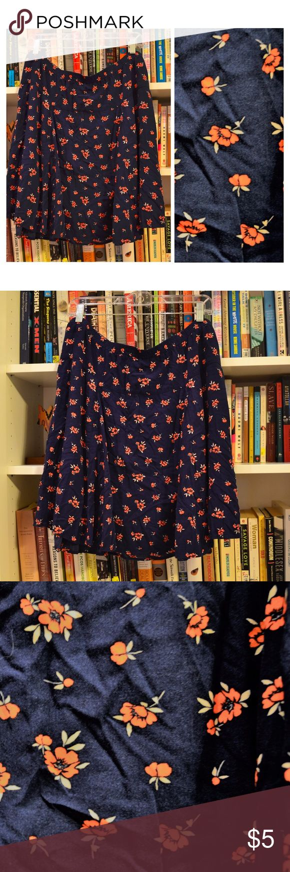 Floral circle skirt Circle skirt with contrasting flowers! Old Nav Skirts Circle & Skater