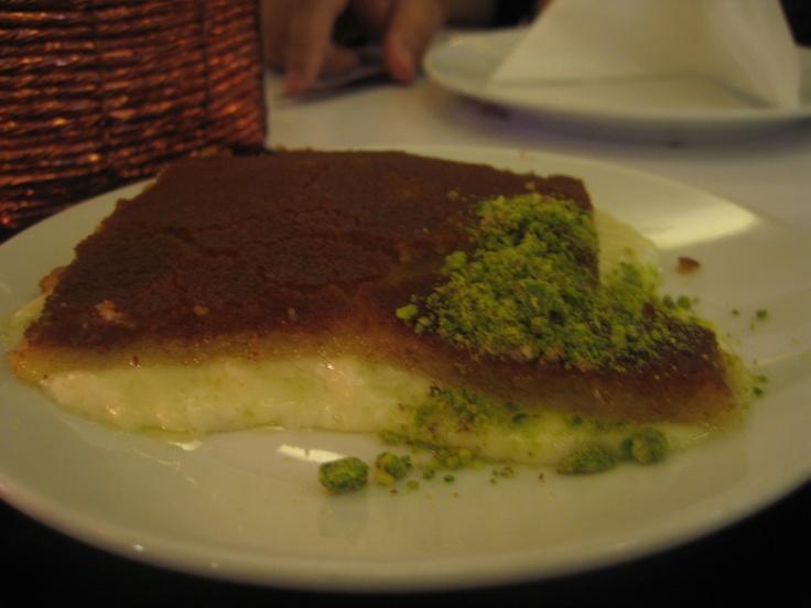 Künefe, Al Hallab Restaurant, Dubai, UAE (this was the best künefe I've ever eaten)