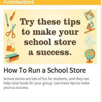 Tips for running a successful school store.