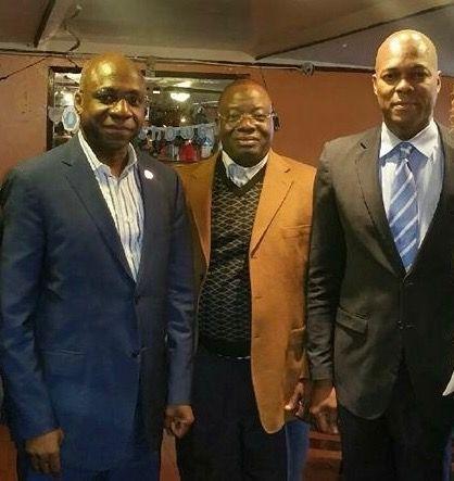 UNESCO C-Forge Antonio Sabas with Ambassador Antoine TeTe Antonio of the African Union