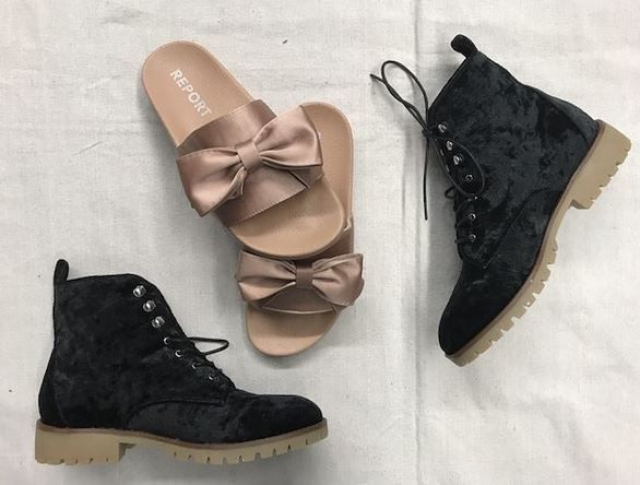 Perfect spring shoes! • #report ribbon sandals - 7 - $10 #qupid velvet boots - 7 - $14 • #springfever #springboots #velvet #velvetboots #love #cute #previouslyowned #deals #bargain | www.platosclosetoakville.com