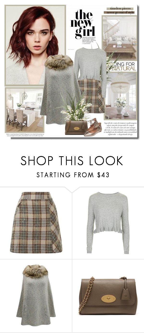 """Hello March!!"" by lilly-2711 ❤ liked on Polyvore featuring Topshop, Mulberry, Sigerson Morrison, croptop, flats, topshop, mulberry and poncho"