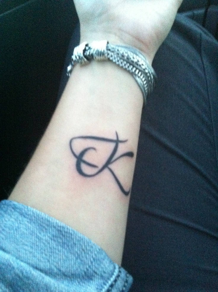 My New Small Tattoo With My Boys Initials Entwined Together Small Tattoos Creative Tattoos