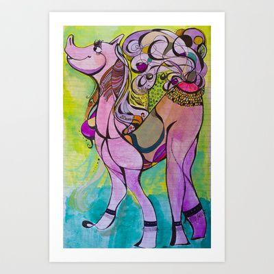 Happy horse Art Print by Valerie Parisius - $17.00 www.valerieparisius.com