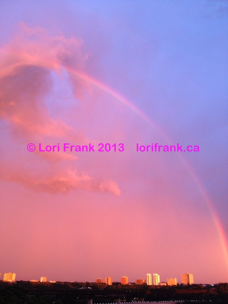 Rainbow Dragon Sky. Untouched photo from iphone. Edmonton. Prints available. Enquire at www.lorifrank.ca