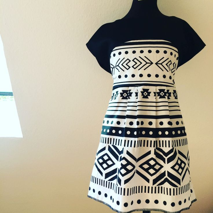 Girl Dress, fabric inspired on the Selknam and Mapuche Iconography. www.noavys.com