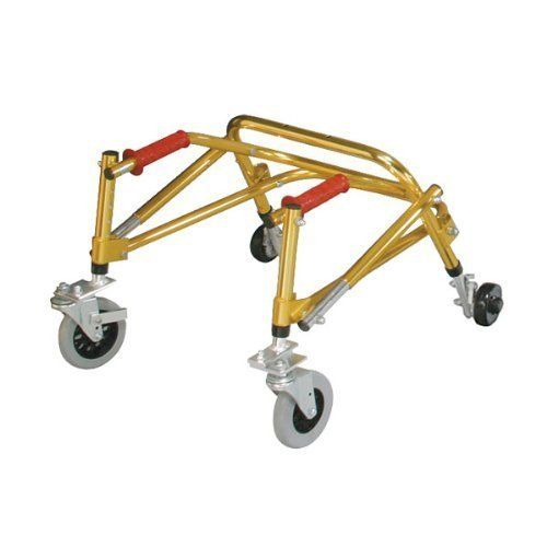 "Nimbo Lightweight Posterior Safety Roller Tyke, Goldenrod Yellow by Rolyn Prest. $375.10. Model No.:-552563. Width Between Handlebars:13.5"",  Capacity:75 lbs., Weight:9 lbs.. This Listing Is For Nimbo Lightweight Posterior Safety Roller Only.. Size-Tyke, Color-Goldenrod Yellow, Height:14.5""-18"".. This item may differ from the image shown. This item may be a replacement or optional part for the image shown,or differ in model,color, etc. Please review the title and features ..."
