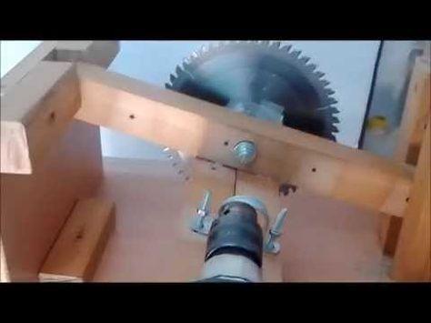 Cómo hacer una lijadora de disco con soporte para taladro - YouTube