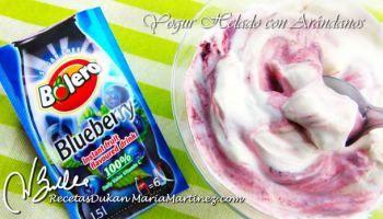 Yogur helado Dukan sabor Arándanos con Bolero (Ataque)