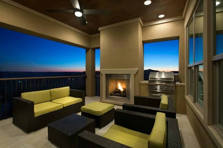 Jimmy Jacobs home - outdoor living area