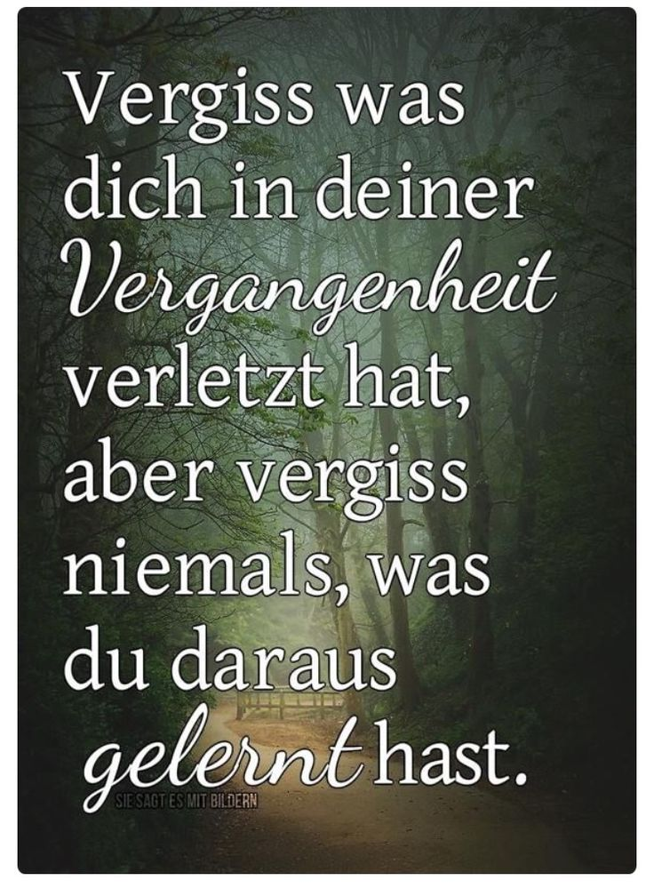 Vergiss was dich...