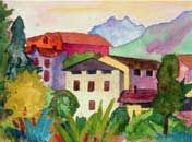 Dorf Aquarell 7. August 1923  by Hermann Hesse © Copyright 2002 – 2012 Sparkass…