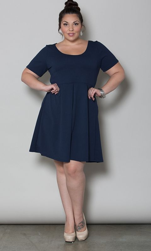 Joyce Dress in Navy at Curvalicious Clothes