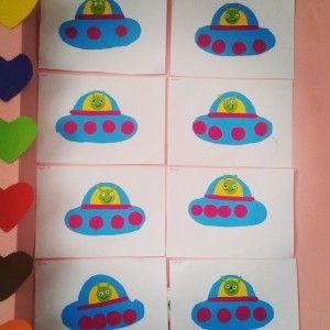 rocket bulletin board ideas | astronaut bulletin board handprint rainbow bulletin board handprint ...