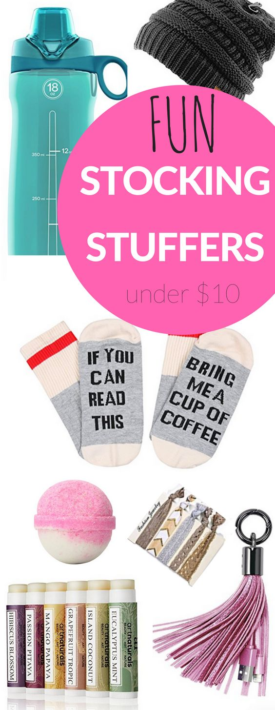 Best Stocking Stuffers for adults and Fun Stocking Stuffer Ideas for teens, women  and for him! Most under $5! #stockingstuffers #christmasgifts