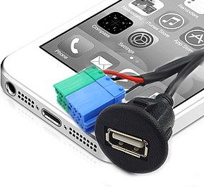 USB-BKR USB Charging and Playback Adapter for select Becker Radios