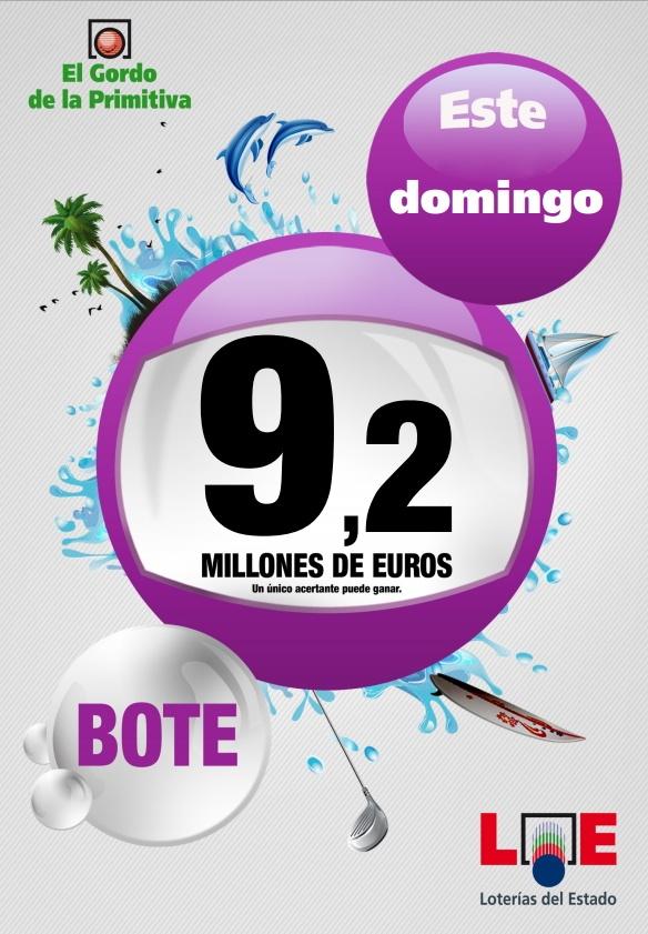Gordo Primitiva, Bote 9.200.000€, Domingo 03/06/2012