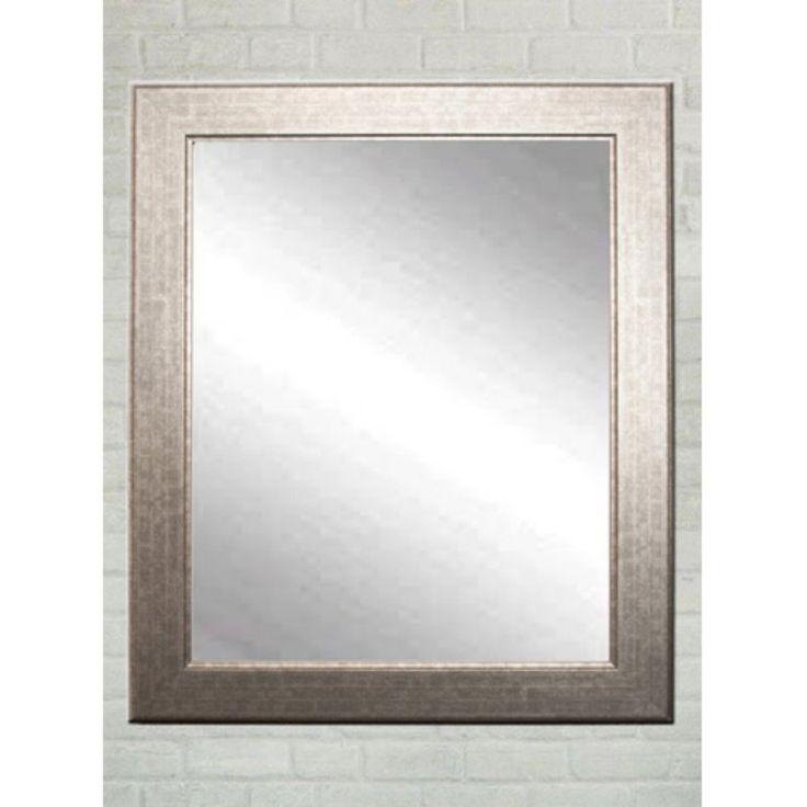 BrandtWorks Modern Wall Mirror - Subway Silver - BM014L2