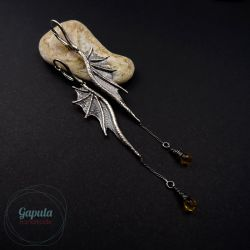LONG DRAGON WINGS CHAIN (CITRINE)