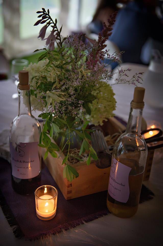 Wedding centrepiece, rustic wedding, wooden box centrepiece, purple wedding
