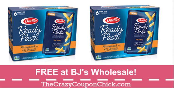 FREE Barilla Ready Pasta at BJ's Wholesale!