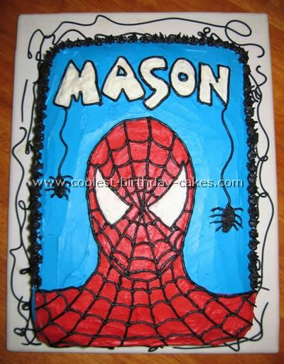 """""""A cake with MY name on it AND Spiderman!!!"""""""