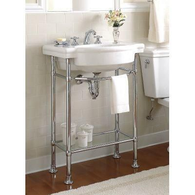 American Standard Retrospect Console Table Legs in Polished Chrome ...