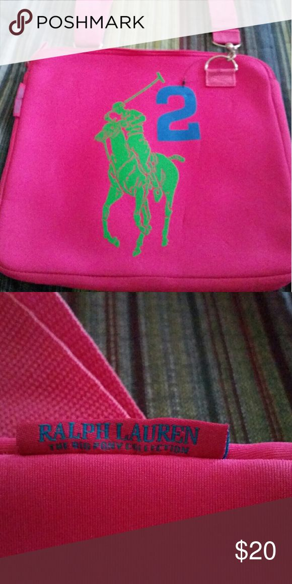 NWOT! Ralph Lauren In NEW condition, was never used! Tags fell off but the plastic tag holder is still attached! This is really cute, bought for my daughter, she didn't want it! She's very picky!! Ralph Lauren Bags Laptop Bags