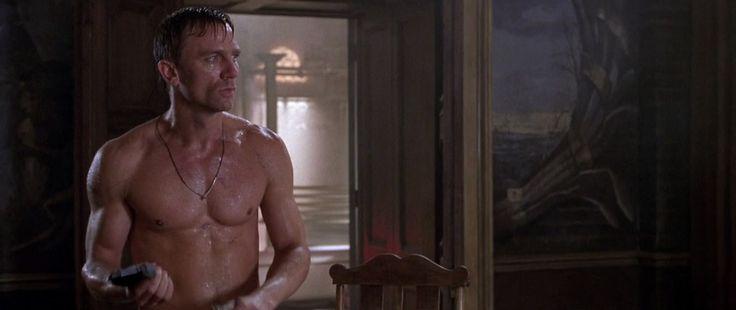 Daniel Craig Shirtless as Alex West in Lara Croft: Tomb Raider