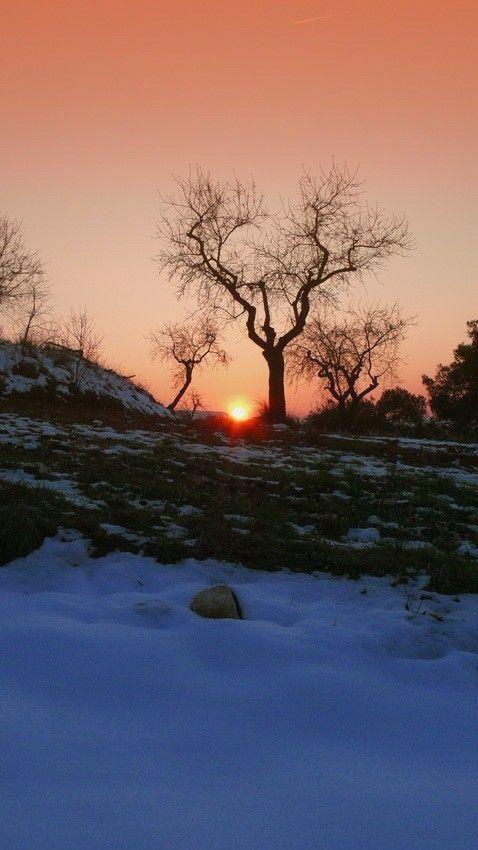Sunset, Horta de Sant Joan, Catalonia.