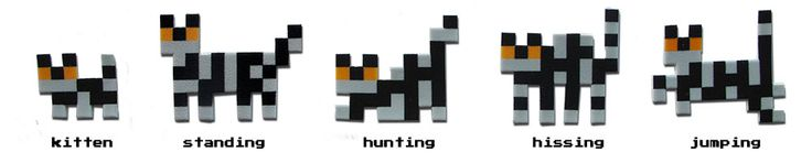 Pixelpets available in 5 positions and 65 designs! Check http://www.vectorificdesign.com/pixelpet/