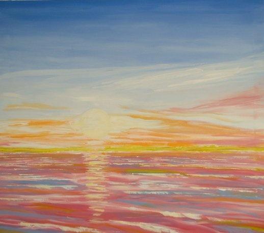 Sunrise - 70 x 80 - Acrylic - Artist: Lars Stounberg, Denmark