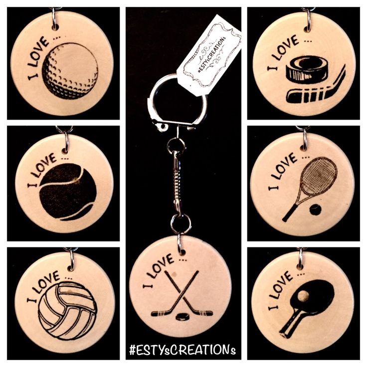 A personal favorite from my Etsy shop https://www.etsy.com/ca/listing/500329171/2-sports-keychains-i-love-hockey-i-love