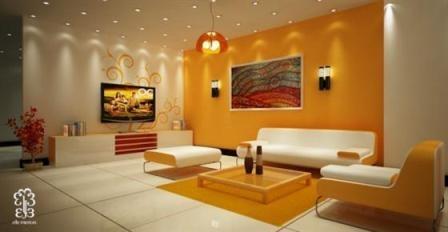 Amazing Spotlight In Orange Room | NDA   Interior Design   UNIT 09    Creative Lighting! | Pinterest | Orange Rooms Part 5