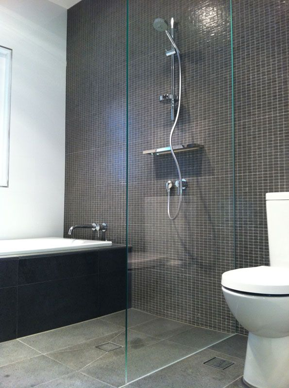 Fixed panel frameless glass shower screen. http://www.infinityglass.com.au