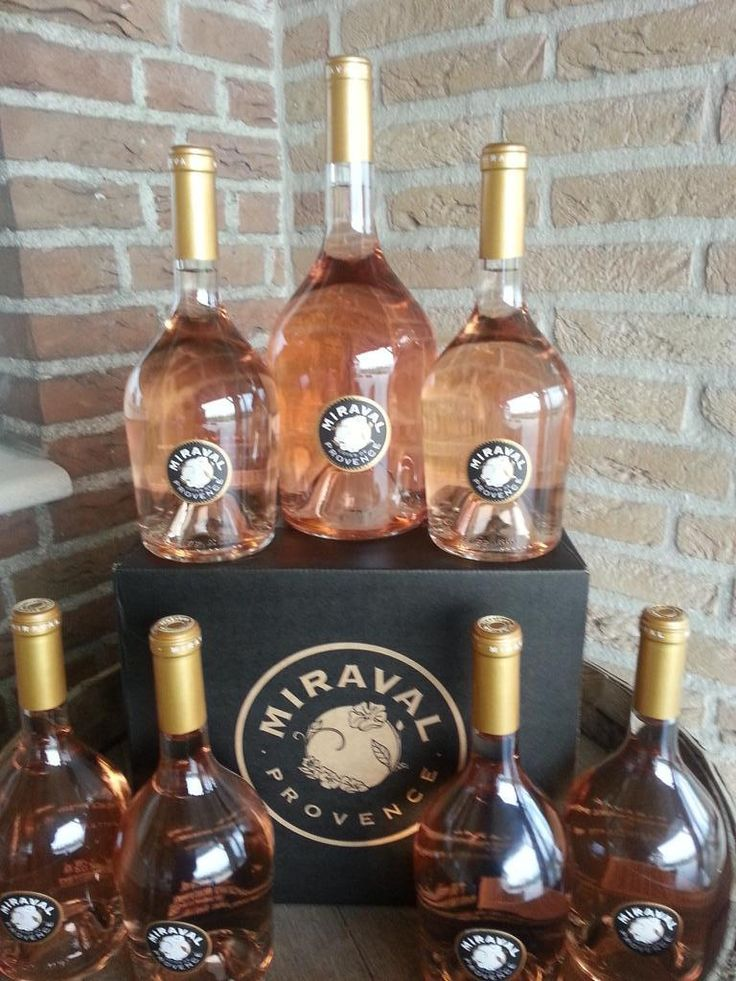 lots of beautiful #Miraval Rosé #wine
