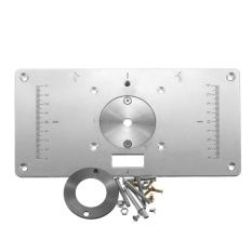 Aluminum Router Table Insert Plate For Popular Trimmers / Routers DIY Woodworking - Intl
